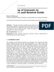 Ranking of Economics Journals