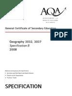 AQA 3032 3037 W SP 08 Teachers Assessment