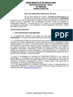 Edital Concurso Público São Pedro do Turvo
