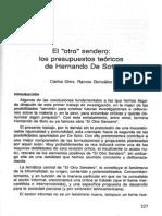 el otro sendero los presupuestos teóricos de Hernando de Soto - Carlo Gmo. Ramos González