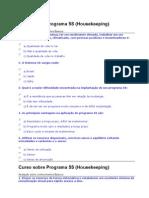 Curso sobre Programa 5S avaliaçao
