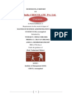 Business Plan-- T@P India CHOCOLATE Pvt. Ltd.--- Uummm Chocolet -