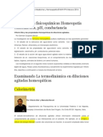 Termodinámica homeopatia