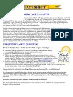 Florida College System Fact Sheet