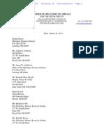 Briefing Schedule for DeBoer v. Snyder (6th Circuit)