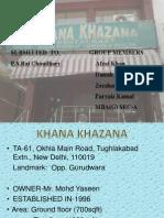 Khana Khazana ppt