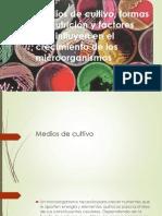 Medios de cultivo formas de nutrición y factores