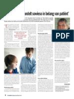 'Doorsnee arts handelt sowieso in belang van patiënt'