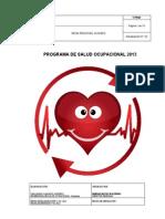 Programa de Salud Ocupacional Quindío 2014