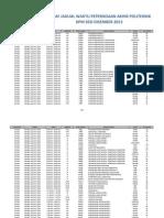 Jadual exam politeknik sesi dis 2013