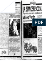 Veron, Eliseo - La Semiosis Social