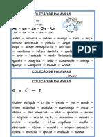 GRUPO DE PALAVRAS 2º ANO CONT.