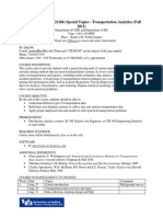Syllabus - Transportation Analytics