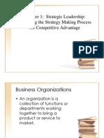Hill and Jones Strategic Management Chaper 1