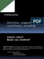 Diabetul Zaharatdefinitie,Dg, Clasif - Copy