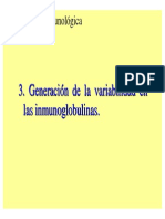 Generacion de La Variabilidad de Inmunoglobulinas