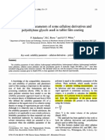 Solubility Parameter Cellulose Esters