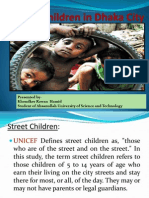 Lives and Livelihoods of the Street Children in Dhaka PPT