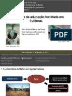 Palestra Adubação fosfatada frutíferas