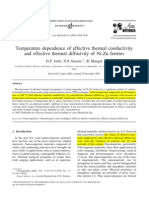 1-Temperature Dependence of Effective Thermal Conductivity and Effective Thermal Diffusivity of Ni-Zn Ferrite