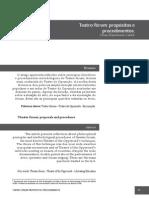 12 Teatro-Forum - Propositos e Procedimentos