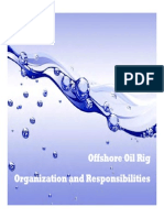 Offshore Oil Rig Organization and Responsibilities