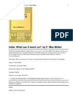 India_ What Can It Teach Us_Max Mueller