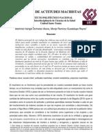 Martinez Rangel, Johnatan A. y Monje Ramírez, Guadalupe R. - Escala de actitudes machistas