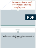 How to Create Trust and Empowerment Among Employees
