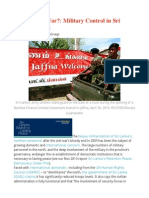 The Forever War  Military Control in Sri Lanka's North