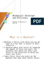 5-2 Mechanical Advantage and Efficiency