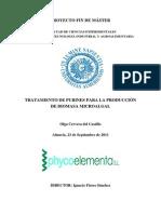 TRATAMIENTO DE PURINES PARA LA PRODUCCIÓN DE BIOMASA MICROALGAL-CERVERA DEL CASTILLO, OLGA