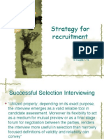 Strategy for Recruitment