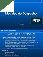 modelos economicos de despacho energía