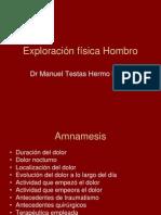 Exploración física Hombro