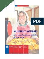Hombres y Mujeres Sector Pesca Chile