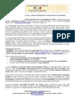 Comunicato stampa N.1 del 24 marzo 2014