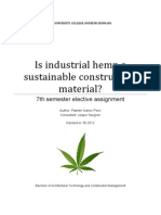 Hemp as Construction Material