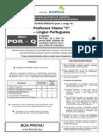 """POR Q  -  Professor Classe """"C"""" - Língua Portuguesa"""