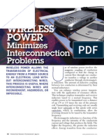WIRELESS POWER - Minimizes Interconnection Problems