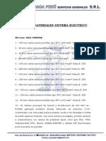 Lista de Materiales Sistema Electrico Jusaca Peru 2
