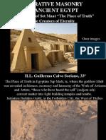 Operative Masonry in Ancient Egypt