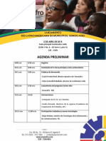 Agenda Preliminar