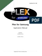 Plex for Samsung App Manual v1006