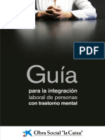 Guia Para La Integracion Laboral de Personas Con Trastorno Mental