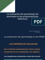 La evaluación de los aprendizajes en las PPDD