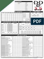 Scheda D&D 3.5 A4 Normale