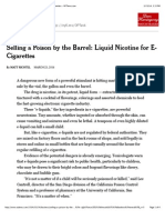 selling a poison by the barrel liquid nicotine for e-cigarettes - nytimes com