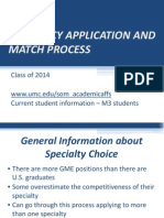 Residency Application and Match Process - Class of 2014 - Handout Copy