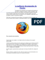 Melhorar Desempenho Do Firefox